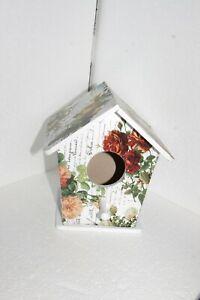 Farmhouse Shabby Chic Home Decor Decorated Birdhouse