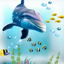 Fish Under Sea Bubble Vinyl Wall Sticker Bathroom Bedroom Kids Room Home Decor