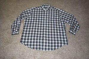 Ralph Lauren Gray Blue Yellow Green Plaid Blake Long Sleeve Shirt Sz X Large XL