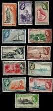1950s Barbados Queen Elizabeth II Mint Stamps to $1.20 Face Value.
