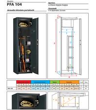 PORTAFUCILI ARMADIO Linea Acciaio PFA104 legge 110 art.20 18/04/75 CUSTODIA ARMI