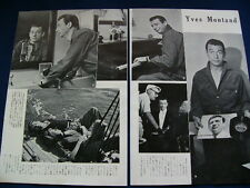 1950s Yves Montand Japan VINTAGE 11 Clippings &  Poster VERY RARE