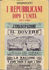Spadolini, I repubblicani dopo l'Unità, Le Monnier, Quaderni di storia, 1980