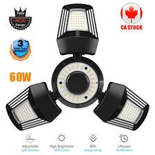 60W LED Garage Light Bulb Deformable Ceiling Fixture  Home Shop Workshop Lamp CA