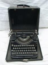 Antique Underwood Elliot Fischer Portable Typewriter w/Case Steampunk Types