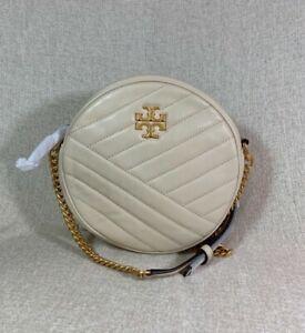 NEW Tory Burch New Cream Kira Chevron Circle Bag $428