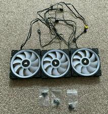More details for corsair - ll120 rgb fans (x3), 120mm case fans (lot b)