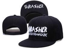 Thrasher Hat Cap Fire Black Magazine Flames Adjustable Embroidered Logo New