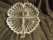 Four Leaf Clover Clear Glass Divided Dish - Very Pretty