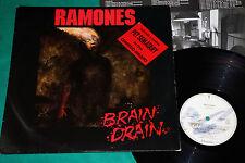 Ramones - Brain drain BRAZIL ONLY RARE 1st Press LP STICKER On Cover Chrysalis