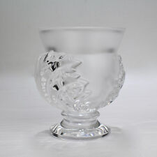 Signed Lalique St Cloud Clear & Frosted Glass Vase - Saint Crystal GL