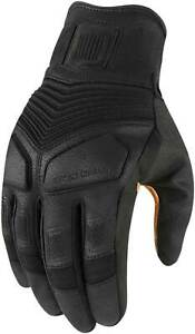 Icon 1000 Nightbreed Gloves - Motorcycle Street Bike Riding Leather Touch Screen