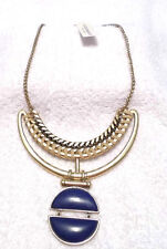 Lucky Brand Gold/Blue Stone Design Necklace