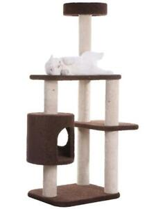 Premium Three-Level Carpeted Cat Tree with Playhouse by Armarkat