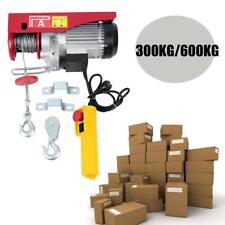 Paranco elettrico argano verricello 600W - 300/600KG - 12 MT doppia carrucola