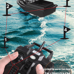 Wireless LED GPS Fishfinder With Fishing Bait Boat+ Handbag +2 Spare Battery Set