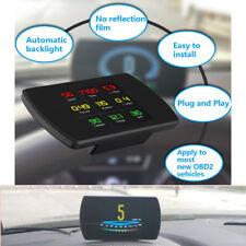 4.3'' Car HUD Head Up Display OBD2 Speedometer Warning Smart Digital Meter RPM