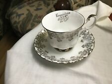 ROYAL ALBERT Footed  Cup & Saucer Bone China - 25th Aniversary - England