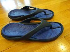 Crocs Unisex Navy Blue/Blue Flip Flops Size M 9, W 11