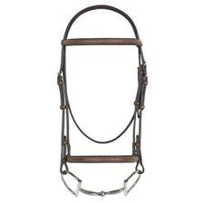 "Rodrigo Pessoa Leather Fancy Raised English Bridle - 5/8"" Reins - Horse - Brown"