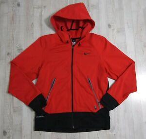 Nike Mens Large Therma-Fit Hero Outdoor Tech Hoodie Red Black Zip Jacket 576599