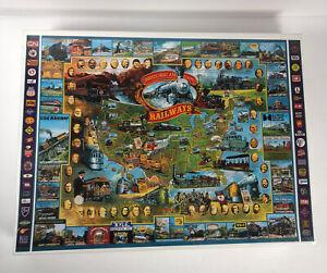 """1000 Piece Puzzle Historical American Railways White Mountain 1996 - 24'' x 30"""""""