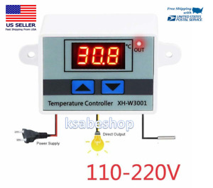 controlador de temperatura de rel/é de termostato digital inteligente 12V 20A de DC con sensor Tiptiper Controlador de temperatura digital
