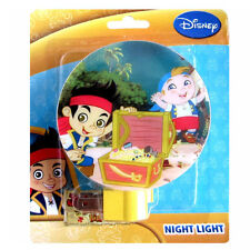 Disney Jake Never Land Pirates & Cubby ROOM BATH PLUG IN W BULB NIGHT LIGHT LAMP