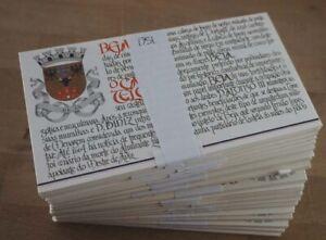 1986 Portugal; 100 Markenheftchen Burgen, MiNr. 1681, postfrisch/MNH, ME 500,-