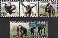 Common CHIMPANZEE / African Ape / Monkey / Primate Stamp Set (2012 Burundi)