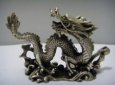 10.2 cm * / China collections copper sculpture luck dragon statue