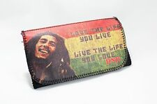 Pu Leather Wallet Purse Tobacco Case Pouch Bag Cigarette Rolling Bob Marley