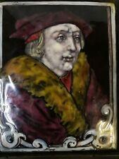 Portrait Thomas Morus (More) sur plaque de cuivre èmaillè èpoque 18eme