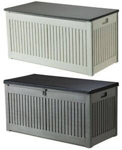 270 LITRE GARDEN STORAGE BOX UTILITY BOX PLASTIC WATERPROOF SHED CHEST STRONG