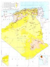 ALGERIA. Algeria; Democratic and popular republic of Algeria 1973 old map