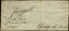 KING GEORGE III (GREAT BRITAIN) - FRAGMENT SIGNED 10/27/1760