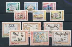 LN70357 Cape Verde churches maps cartography fine lot MNH