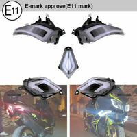 E11 Omologati LED FRECCE ANTERIORE POSTERIORE Luce PER Yamaha TMAX 530 2012-2016