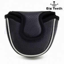 Big Teeth Black Magnetic Mallet Putter Cover Club Headcover For Odyssey 2 Ball