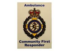 Ambulance Community First Responder Car Badge / Window Sticker for Paramedic
