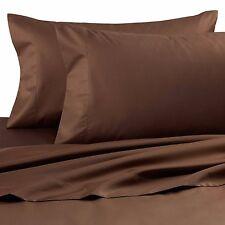 Palais Royale 630 TC Egyptian Cotton King Pillowcases (Set of 2) Brown