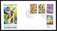 Suriname - 1992 Christmas -  Mi. 1422-25 clean FDC
