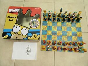 The Simpsons Chess Set complete from 2000