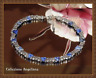 Unikat Edelstein Collier Kette aus dreieckig geschliffenen blauen Sodalith NEU!
