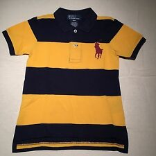 POLO RALPH LAUREN classic navy yellow LARGE pony logo collar Shirt NWT 24 mos 2T