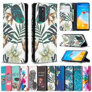 For Huawei Y7A Y9 Prime P40Pro Y5P Y6P Y7P Patterned Wallet Magnetic Cover Case