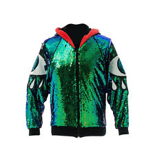 Iridescent All Seeing Eye Sequin Jacket Vintage, Ibiza, Festival, Punk EDM, Plur