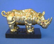 Feng Shui Shinning Gold Rhinoceros Statue