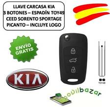 KEY HOUSING KIA RIO PICANTO SPORTAGE CEED 3 BUTTONS TOY49 REMOTE CONTROL. SPAIN