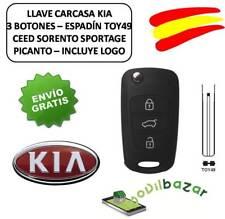 LLAVE CARCASA KIA RIO PICANTO SPORTAGE CEED 3 BOTONES TOY49 MANDO. ESPAÑA